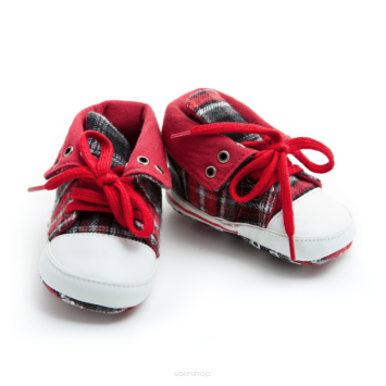 Children's red shoes